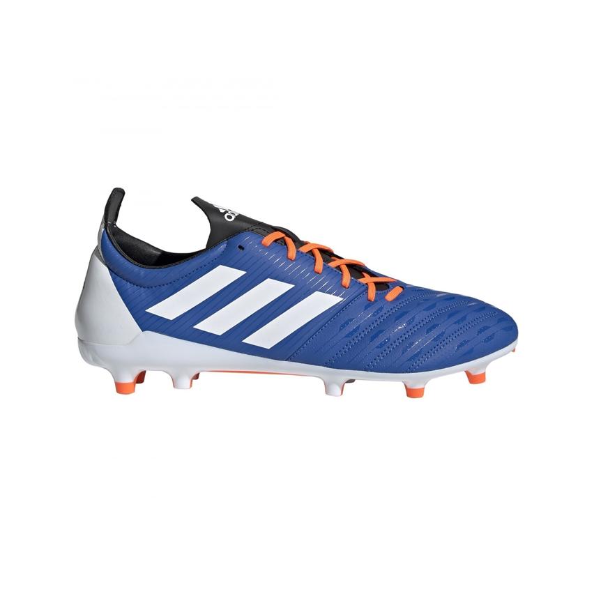 Chaussures Rugby Malice FG Bleu Blanc Terrain Sec - Adidas