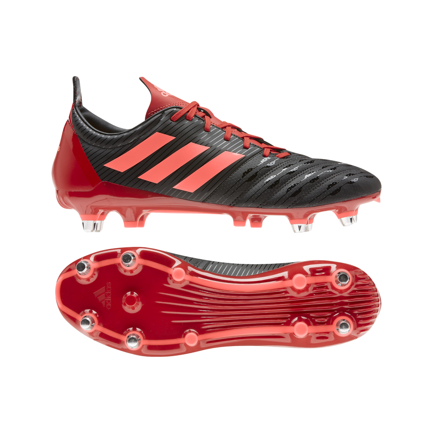 Chaussures Rugby Homme Hybride Malice SG Noir/Rouge – Adidas ...